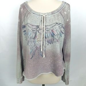 We The Free Dasani Eagle distressed sweatshirt M